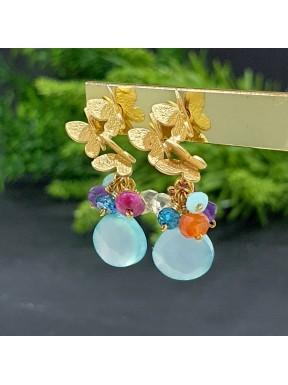 Pendientes Mariposas con gemas