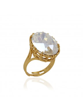 Anillo ovalado Crystal Moonlight